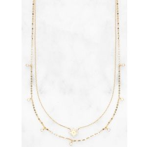 Tai double layer starburst necklace